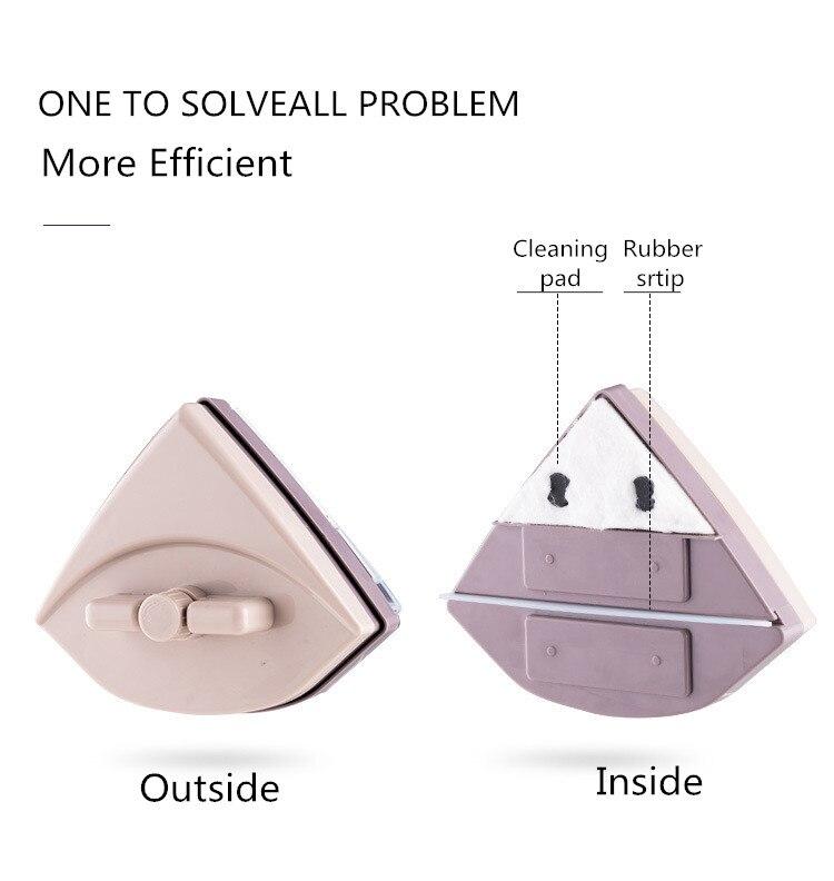 Домашний стеклоочиститель, щетка для чистки стекла, инструмент 3 35 мм, регулируемая двухсторонняя Магнитная щетка для мытья окон, щетка для мытья стекол, чистка - 2