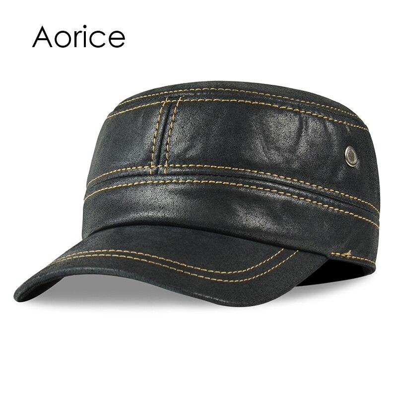 HL019 genuino realleather gorra de béisbol sombrero de los hombres ... a8e4406086a