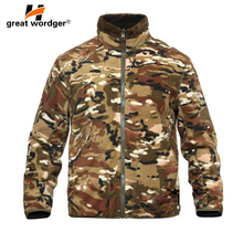 Winter Military Camouflage Fleece Jacket Warm Men Tactical Jacket Thermal Hooded Coat Men Jackets Outdoor Outerwear Clothes winter warm military jackets coats men 2019 casual fashion thick thermal fleece hooded jacket coat outerwear