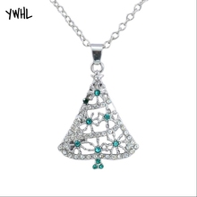 New style zircon Christmas tree necklace pendant jewelry, wedding anniversary woman gift