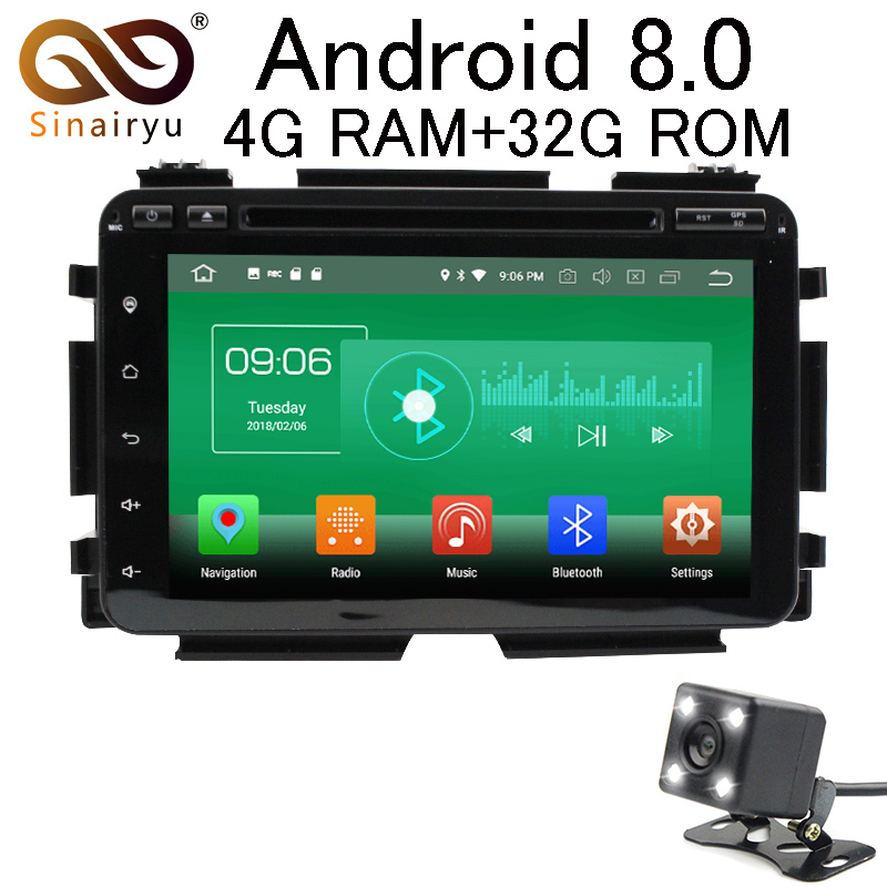 Sinairyu Android 8 0 8 Core 4G RAM Car DVD GPS For Honda HRV VEZEL 2015