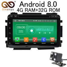 Sinairyu Android 8.0 8 Core 4G RAM Car DVD GPS For Honda HRV / VEZEL 2015 WIFI Autoradio Multimedia Stereo PC Player