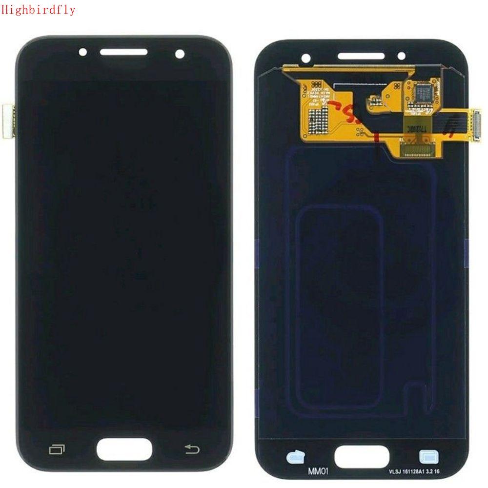 Amoled pour Samsung galaxy A3 2017 A320 A320F A320Y A320M écran Lcd + écran tactile en verre numériseur réparation Amoled