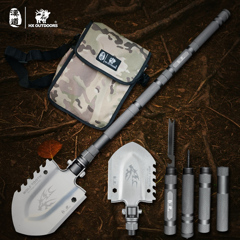 Outdoor Survival Tactical Folding Camping Shovel, Military Equipment, Emergency Multitool,Snow shovel professional military tactical multifunction shovel outdoor camping survival folding portable spade tool equipment hunting edc