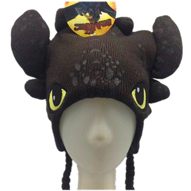 f7f0bef38fac9 New Train Your Dragon Toothless Night Fury Cartoon Black Hat Soft Plush  Warm Winter E Hat