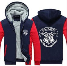 USA size Men Women Harry Potter Jacket Sweatshirts Thicken Hoodie Coat