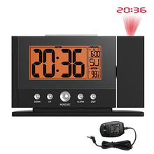 Projection Alarm Clock with Constant Time Projector to Wall,  Snooze Clock  with Constant Orange Backlight + Adaptor Power Plug