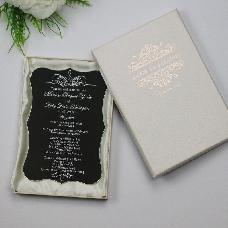 sample personalized luxury customized acrylic wedding With wedding invitations business name ideas