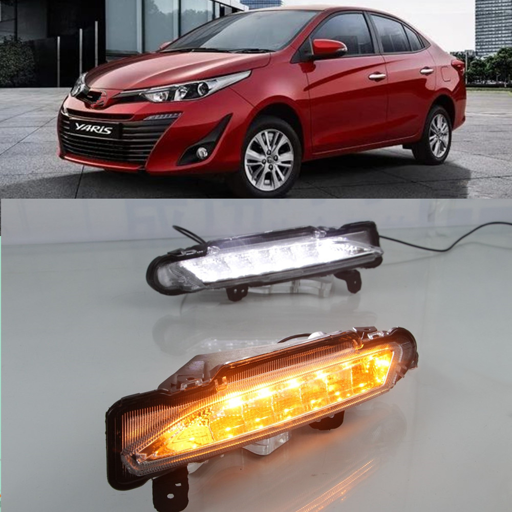 Rear brake bumper lamp For Toyota Yaris 2017 2018 2019 LED DRL Daytime driving Running Light