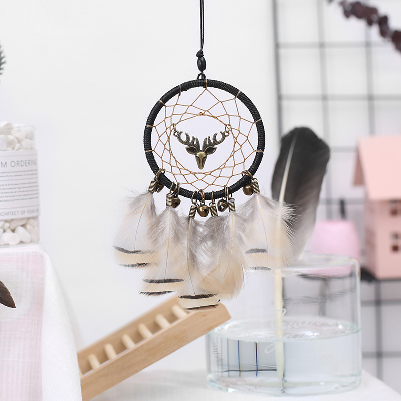 Image 5 - Handmade Dream Catcher Ethnic Feather DreamCatcher Home Wall car wedding Art Hangings Decorations Gift Pendant 2019-in Ornaments from Automobiles & Motorcycles