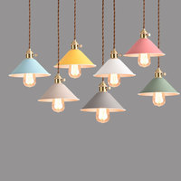 Wholesale Vintage Industrial Lighting Copper Lamp Holder Pendant Light American Aisle Lights Lamp E27 Edison Bulb