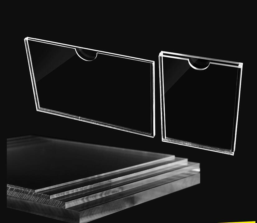 2pcs Double layer acrylic Photo Display Frame Transparent ...