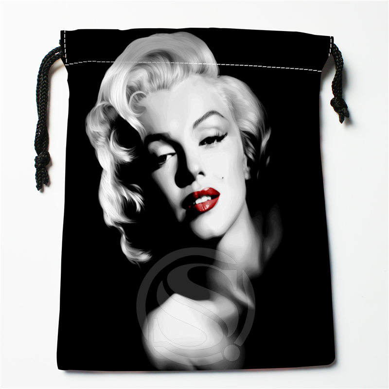 Fl-Q159 New Marilyn Monroe &3 Custom Printed  Receive Bag  Bag Compression Type Drawstring Bags Size 18X22cm 711-#Fl159