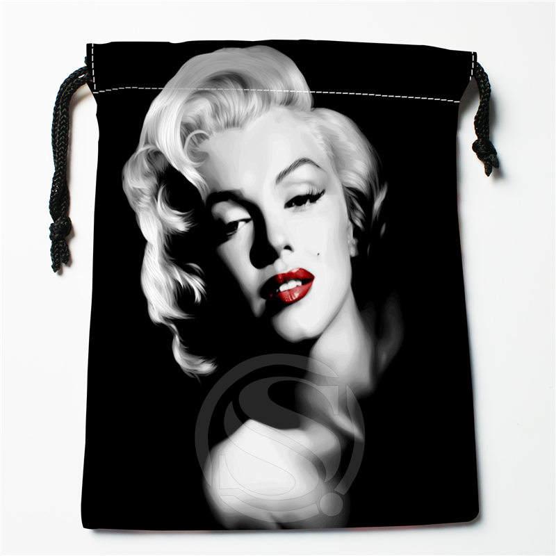 Fl-Q159 New Marilyn Monroe &3 Custom Printed  Receive Bag  Bag Compression Type Drawstring Bags Size 18X22cm 711-#Fl159
