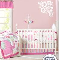 9 шт. детская кроватка номер Дети ребенок спальня комплект Детские подушки розовый слон белье для детской кроватки, набор для Новорожденные