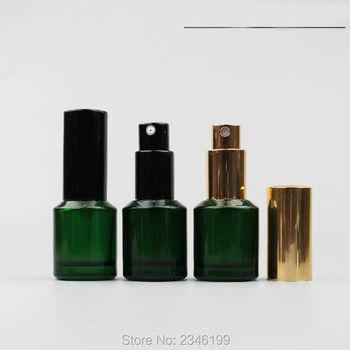 15ML 20pcs/lot Deep Green Glass Liquid Container, Empty Glass Sprayer, DIY Glass Lotion Punp Bottle, Emulsion Bottle