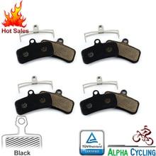 MTB Bicycle Disc Brake Pads for SHIMANO Zee/Saint/M640/M800/M810/M820 Disc Brake, 4 Pairs, Resin Black