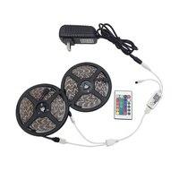 5 м 10 м RGB светодиодный свет 2835 3528 SMD Диодная лента-тесьма со светодиодами Водонепроницаемый Bluetooth WiFi 24Key управление DC 12 В Комплект адаптера пи...