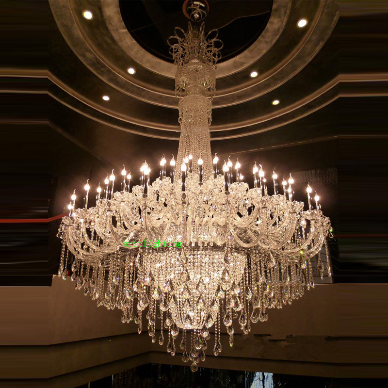 Large Crystal Chandelier Chrome Extra For Hotel Lobby Contemporary Chandeliers Elegant Cristal In From Lights