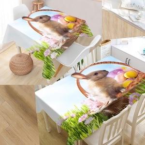 Image 3 - New Arrival niestandardowy królik obrus wodoodporna tkanina Oxford prostokątny obrus Home obrus na imprezę
