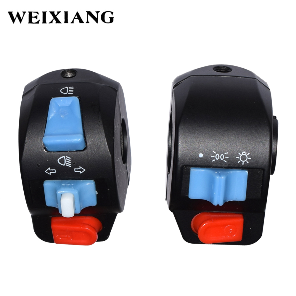 7/8 Motorcycle Handle Bar Left Right Horn Turn Signal Electric Start Handlebar Controller Switch for Harley For Kawasaki 7 8 left