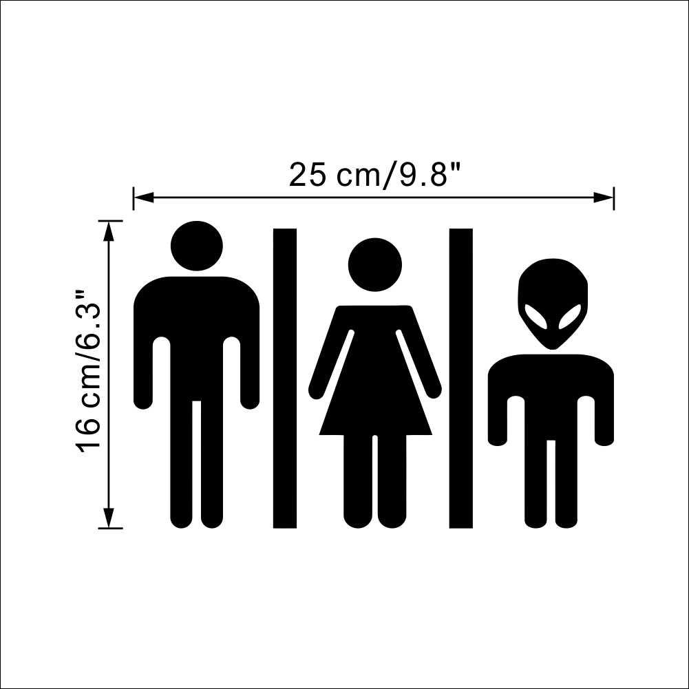 Забавный чужеродный туалетный знак diy Наклейка на дверь 356 знак на дверь ванной комнаты