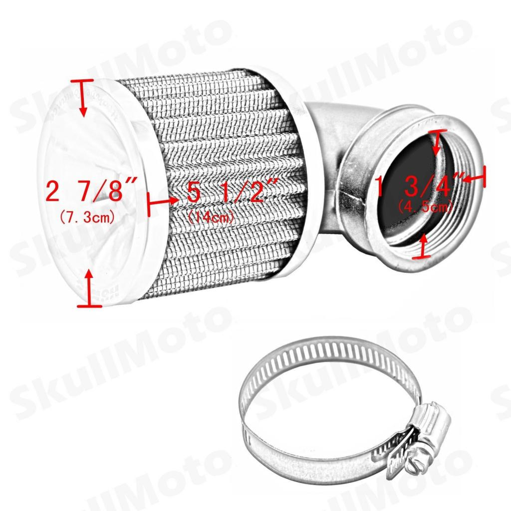 Universal Air Cleaner Intake Filter System Motorcycle Motorbike Scooter Replacement