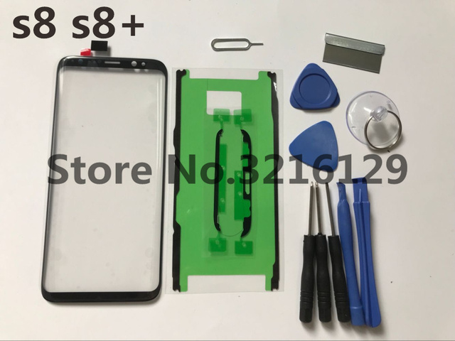 Front Outer Glass Lens Cover Replacement Parts For Samsung Galaxy s8 edge plus G950 G955 Touch Screen Protector+adhesive+ tools
