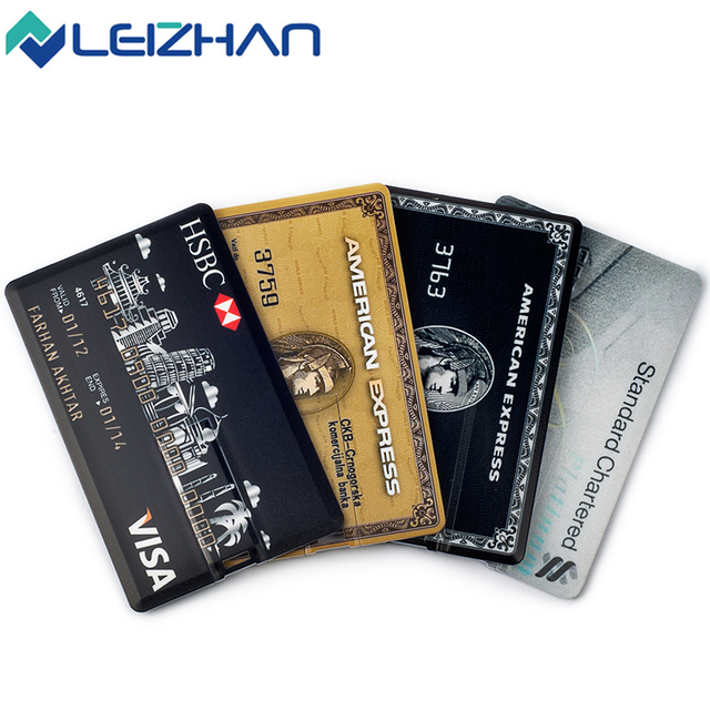 The Credit Card USB Flash Drive Pendrive External Memory Storage 4GB 8GB 16GB  u disk Pen Drive usb 2.0 customized for gift