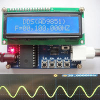 Digital lcd AD9851 50MHZ Function Signal Generator DDS Source SCM+ DDS Module sine wave, square wave.