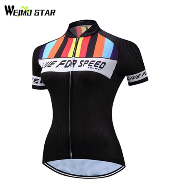 3f3a8bdb1 Weimostar Women Bike Bicycle Cycling Jersey Cycling Clothing Top Black Mtb  Maillot Quick-dry Riding Ciclismo Outdoor Sportswear