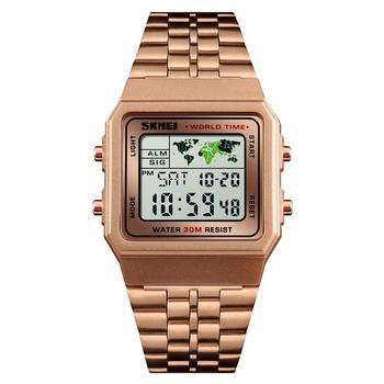 781d295e6fbe Azul del reloj SKMEI 1338 hombres reloj de moda relojes digitales cronómetro  cuenta regresiva impermeable deportes reloj de 12 24 horas
