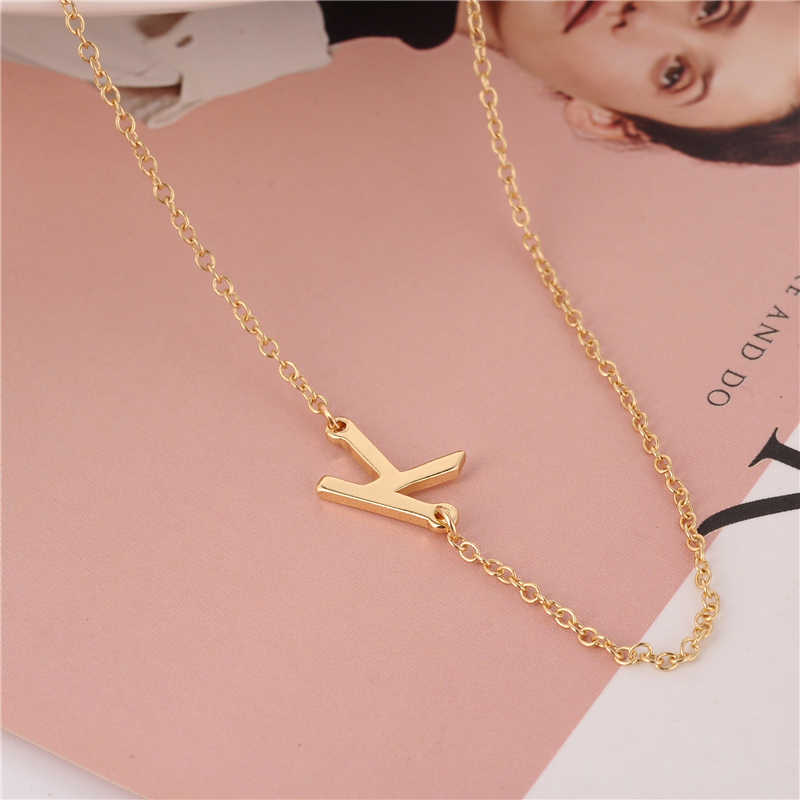 unique personalized sideways letter necklacetiny initial necklace couples necklace gift for her gift