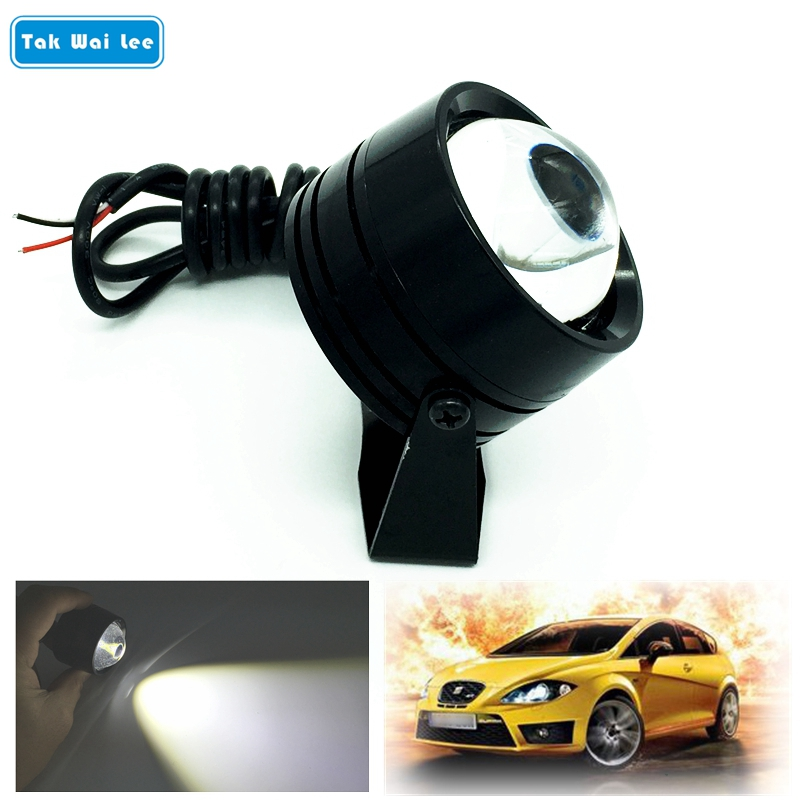Tak Wai Lee 1Pcs External LED Eagle Eye Flash DRL Daytime Running Light Car Styling Waterproof Warning Fog Lamp Parking Lights 2pcs led car fog lamp super bright 1000lm waterproof drl eagle eye light external lights daytime running lights