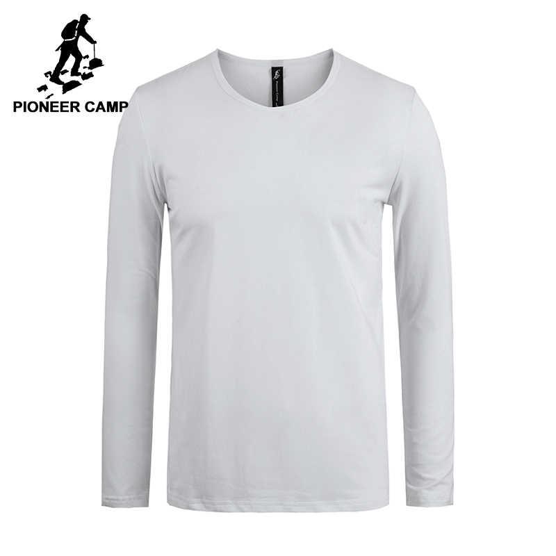 פיוניר מחנה חדש קלאסי מוצק ארוך שרוול חולצה גברים מותג בגדים מזדמנים slim fit באיכות גבוהה למתוח זכר חולצה 209008