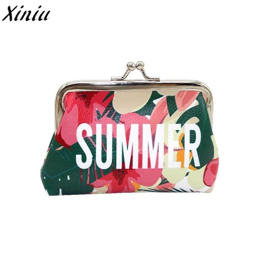 Small Purses Women Fresh Fruit Mini Wallet Hasp PU Leather Purse Clutch Bag Printing coin purses porta monedas #9925