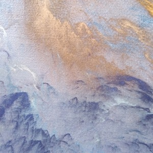 Image 5 - 抽象美しい雲青、金、白ホームベッド玄関エレベーター床マットソファコーヒーテーブルスリップカーペット