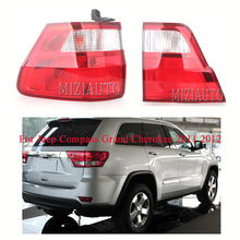 цена на MIZIAUTO 1PCS Rear Tail Light Inner/Outer for Jeep Compass Grand Cherokee 2011 2012 taillights Rear Bumper Light Brake Light