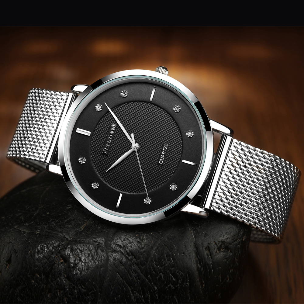 Business watch steel mesh strap quartz Ultra thin 1