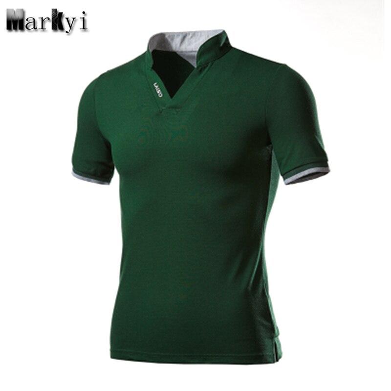 MarKyi plus size 5xl Short Sleeve Turn-Down Collar Mens Polo Shirts Good Quality Summer Camisa Polo Men  Slim Fit