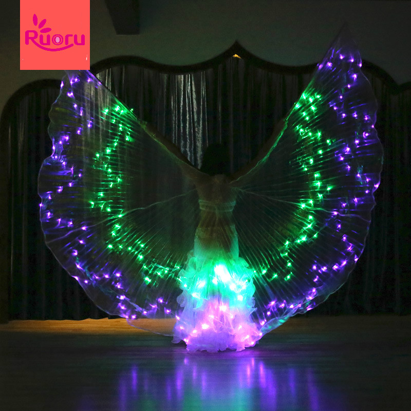 Ruoru Wings-Props Stage-Performance-Props Belly-Dancing-Accessory Led Isis with Stick