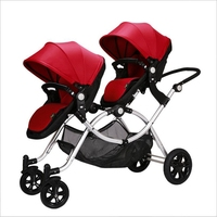 Twin Strollers High Landscape Baby Strollers Can Seat Two Cars Before And After The Two Wheeled