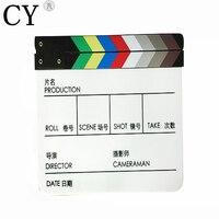 높은 품질 아크릴 했 보드 모두 중국어 영어 다채로운 Clapperboard입니다 영화 액션 필름 액션 Clapperboard입니다 슬레이트