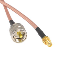 10 Pieces UHF Male to SMA Female Jack Connector Extension Cable RG142 Pigtail Low Loss Cable