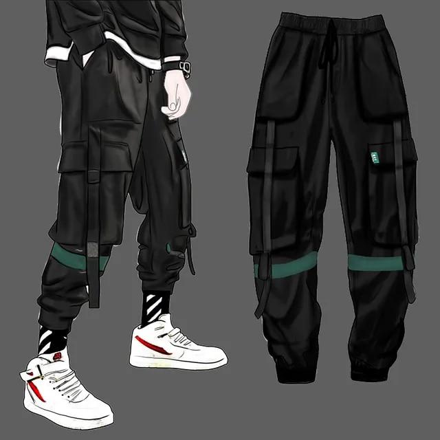 Men Hip Hop Belt Cargo Pants 2019 Man Patchwork Overalls Japanese Streetwear Joggers Pants Men Designer Harem Pants