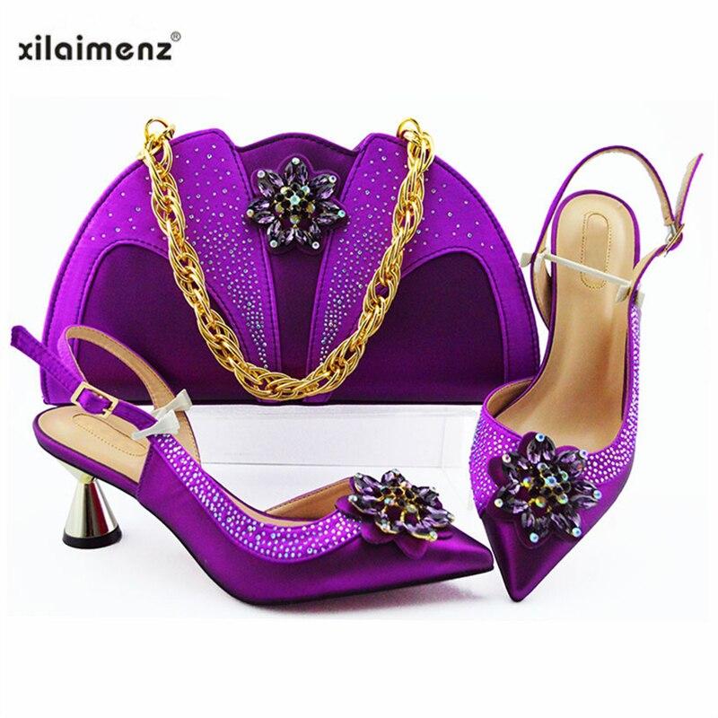 Zapato green Especial Africana gold 2019 Y Bolsos peach Dark Mujer purple Blue Pu Juego La De sky Nigeria Material wine Damas Diseño Blue Con Zapatos silver Fiesta Bolsa qwBOEZgX