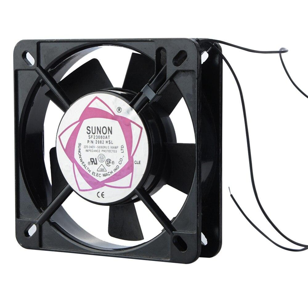 Haute qualité 2pin AC 220 240 V ordinateur CPU ventilateurs de refroidissement accessoires de remplacement ventilateur refroidisseur
