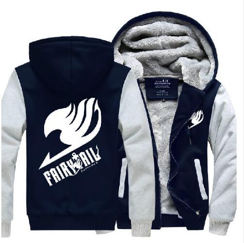 Fairy Tail Hoodie New Anime Coat Luminous Thick Jacket Fashion Men Women Winter Zipper Hooded Sweatshirt