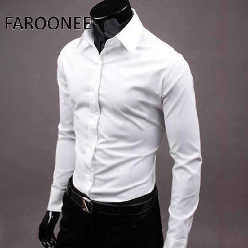 Men's Long Sleeve Shirt 2019 New Spring Business Brand Color Formal Dress Shirt Office Formal Men's 17 Color Men's Shirts