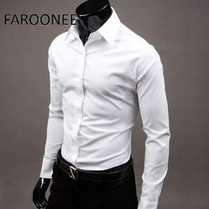 Shirt Formal-Dress Long-Sleeve Office Men's Business-Brand Spring New Color